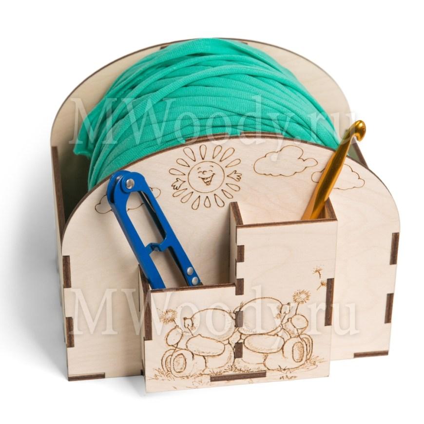 Crochet Bobbin Holder Yarn Holder Spinner Organizer Free CDR Vectors Art