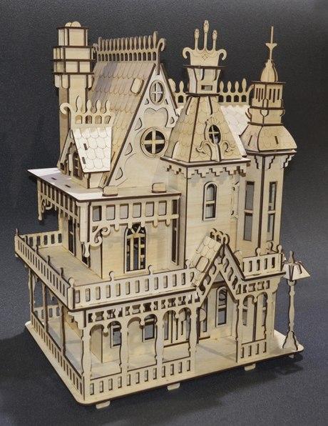Fantasy Villa Laser Cut Free CDR Vectors Art