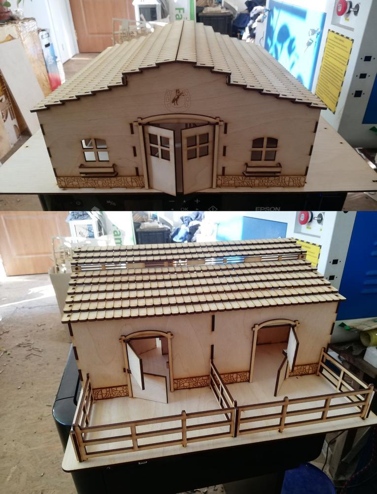 Horse Stable Barn Laser Cut Free CDR Vectors Art