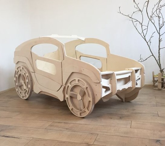 Jeep Bed For Kids Room Free CDR Vectors Art
