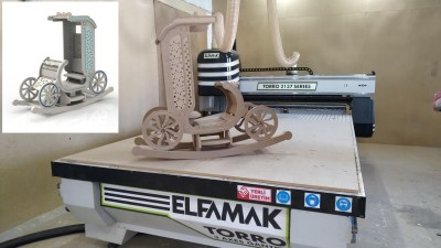 Laser Cut Rocking Chair Template Free CDR Vectors Art