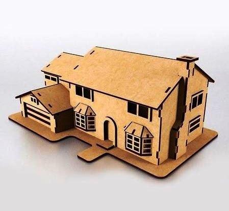 Wooden Simpsons House Model Free CDR Vectors Art