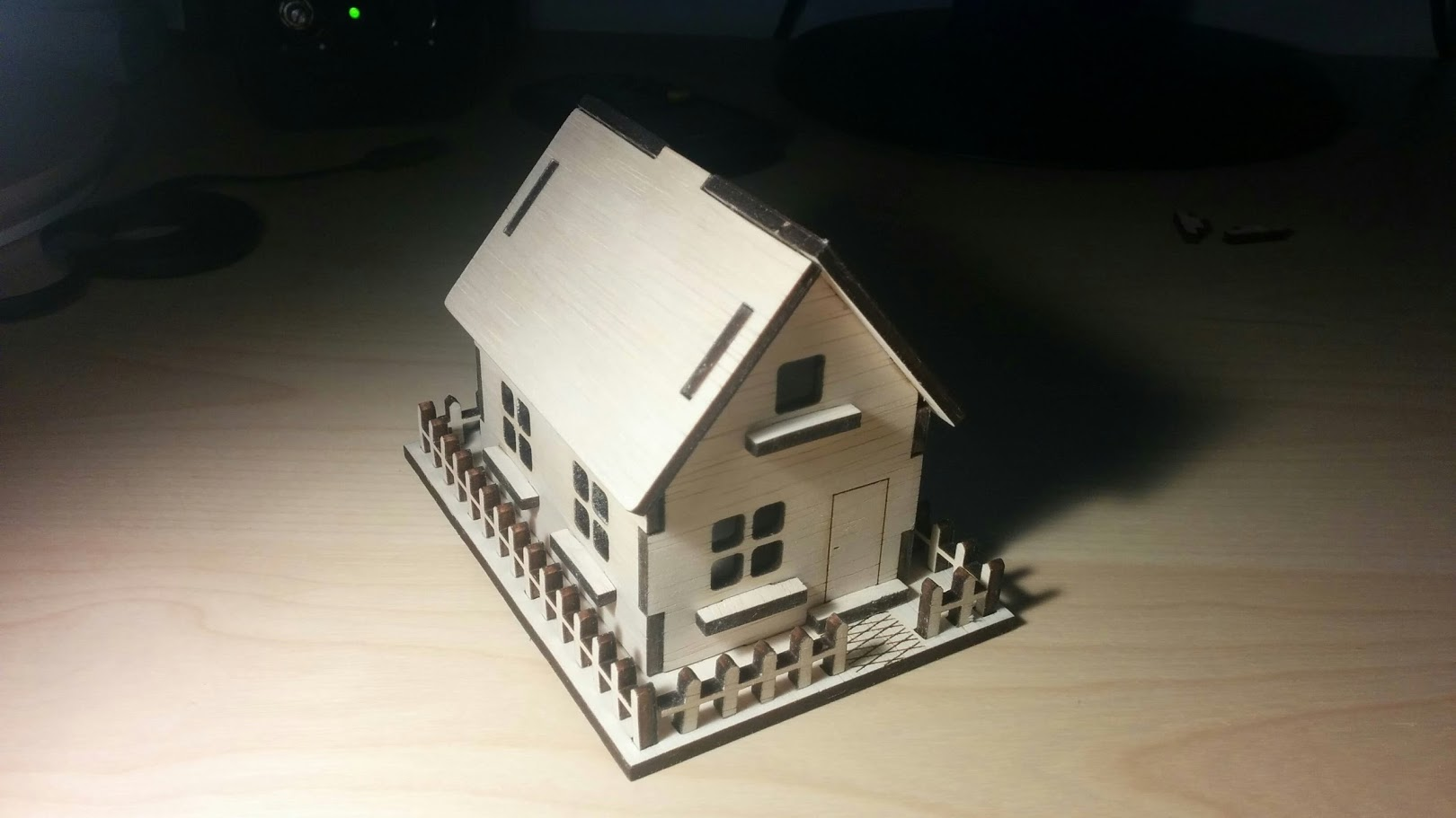 Laser Cut Wooden House 3mm Plywood Free PDF File