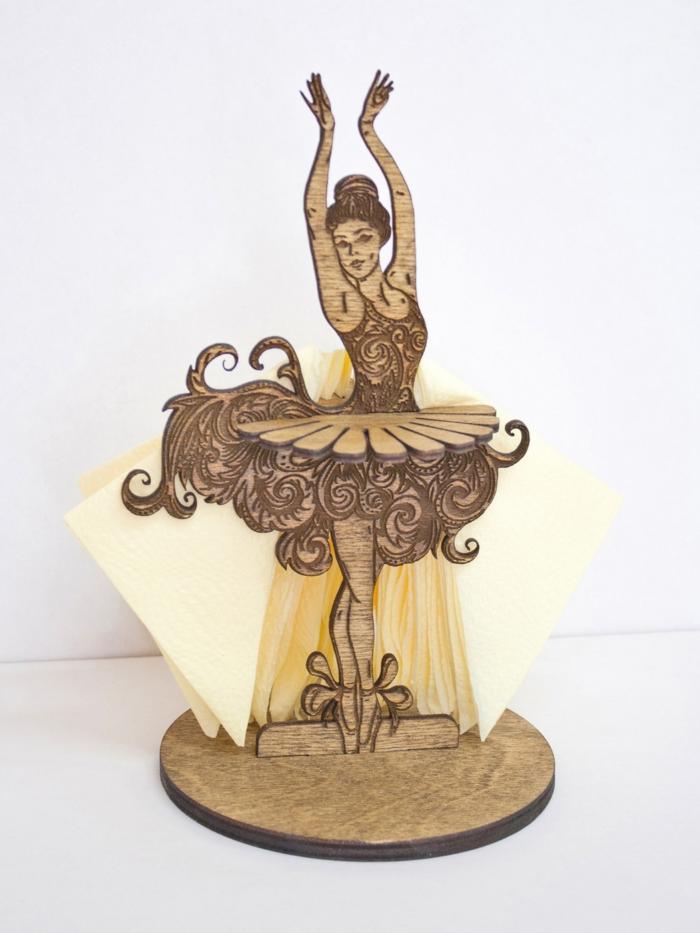 Laser Cut Ballerina Napkin Holder Free PDF File
