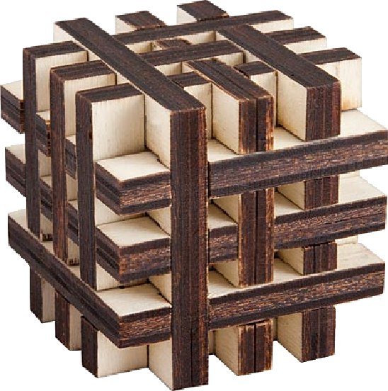 Criss Cross Cube Laser Cut Template Free PDF File