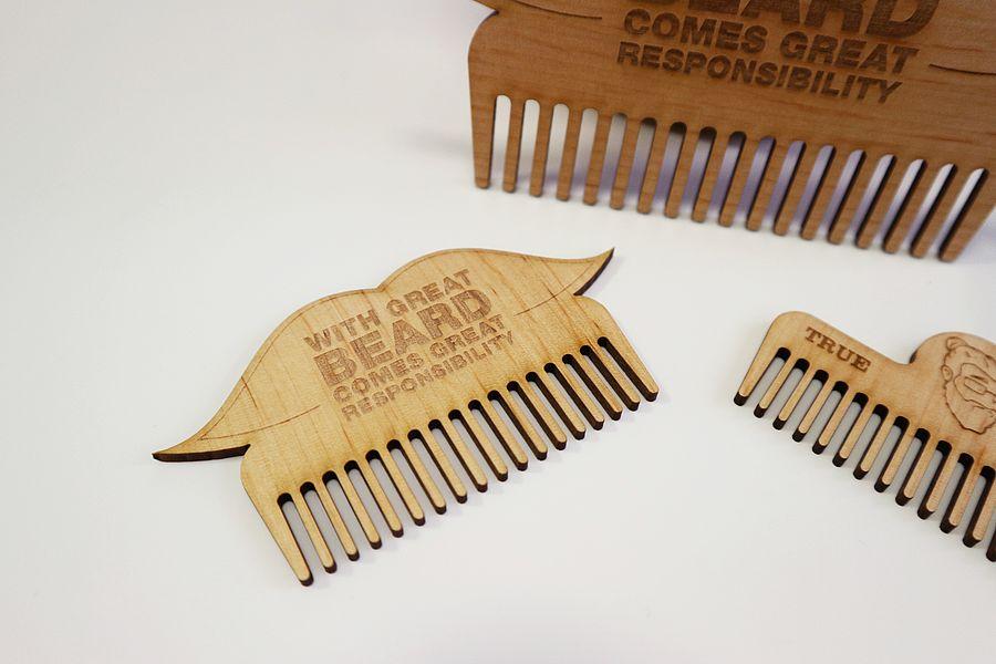 Laser Cut Beard Comb Template Free PDF File
