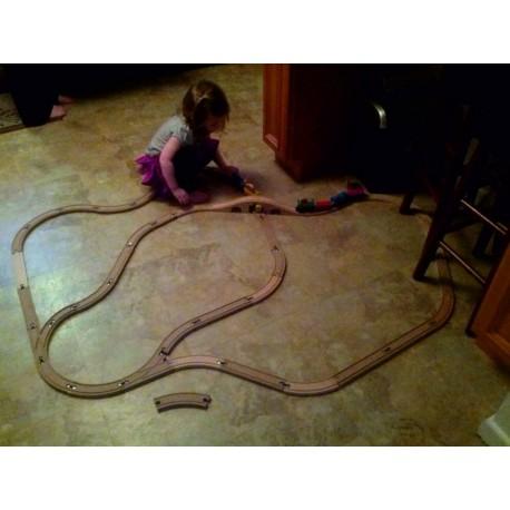 Laser Cut Toy Train Railroad Track Free CDR Vectors Art