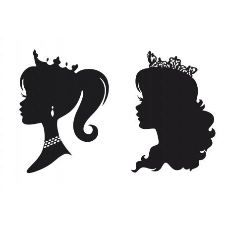 Princess Stencil Silhouettes Free CDR Vectors Art
