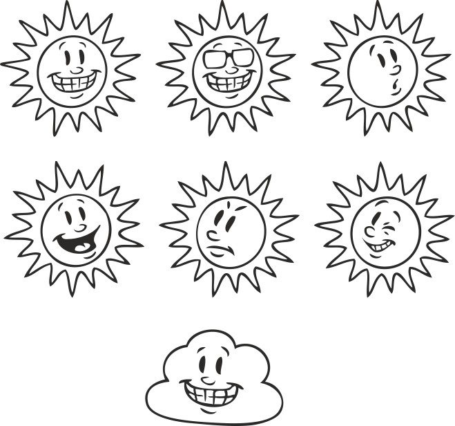 Selection Of Solar Emotions Free DXF File