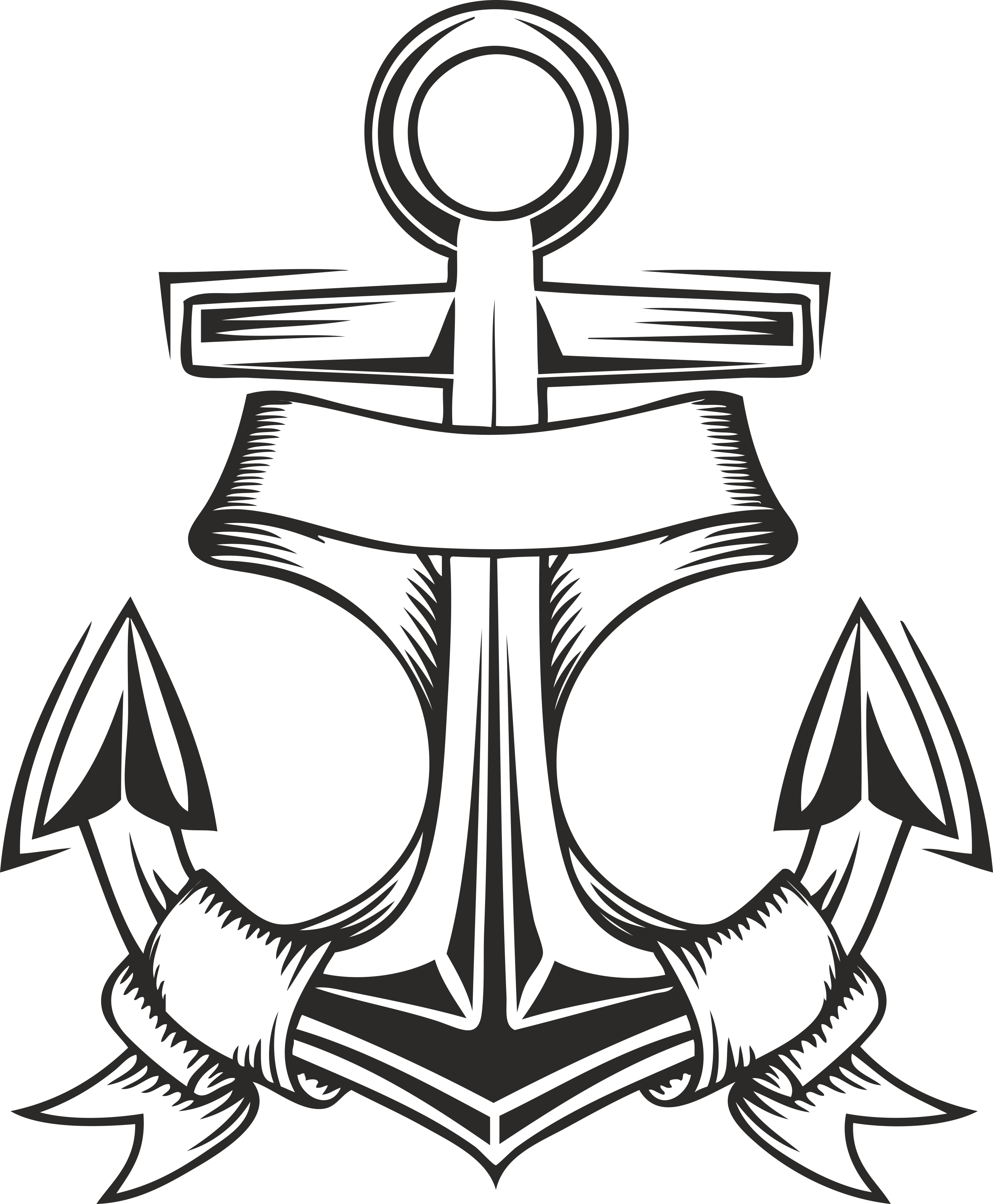 Collection of vector anchors 04 Free Download Free DXF File
