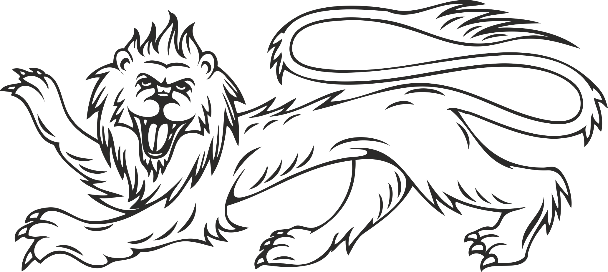 Heraldry Animal Clipart 08 Free DXF File