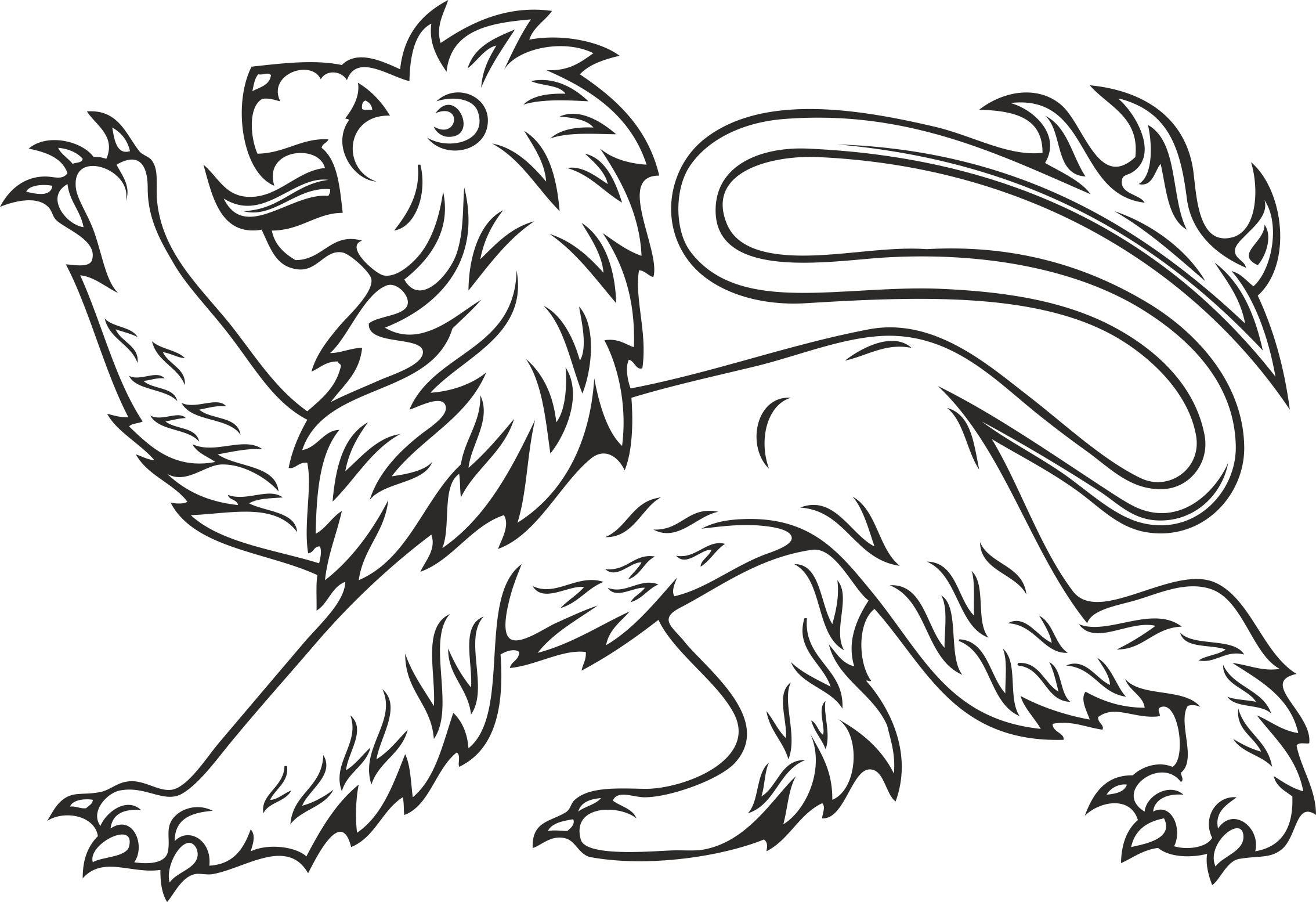 Heraldry Animal Clipart 10 Free DXF File