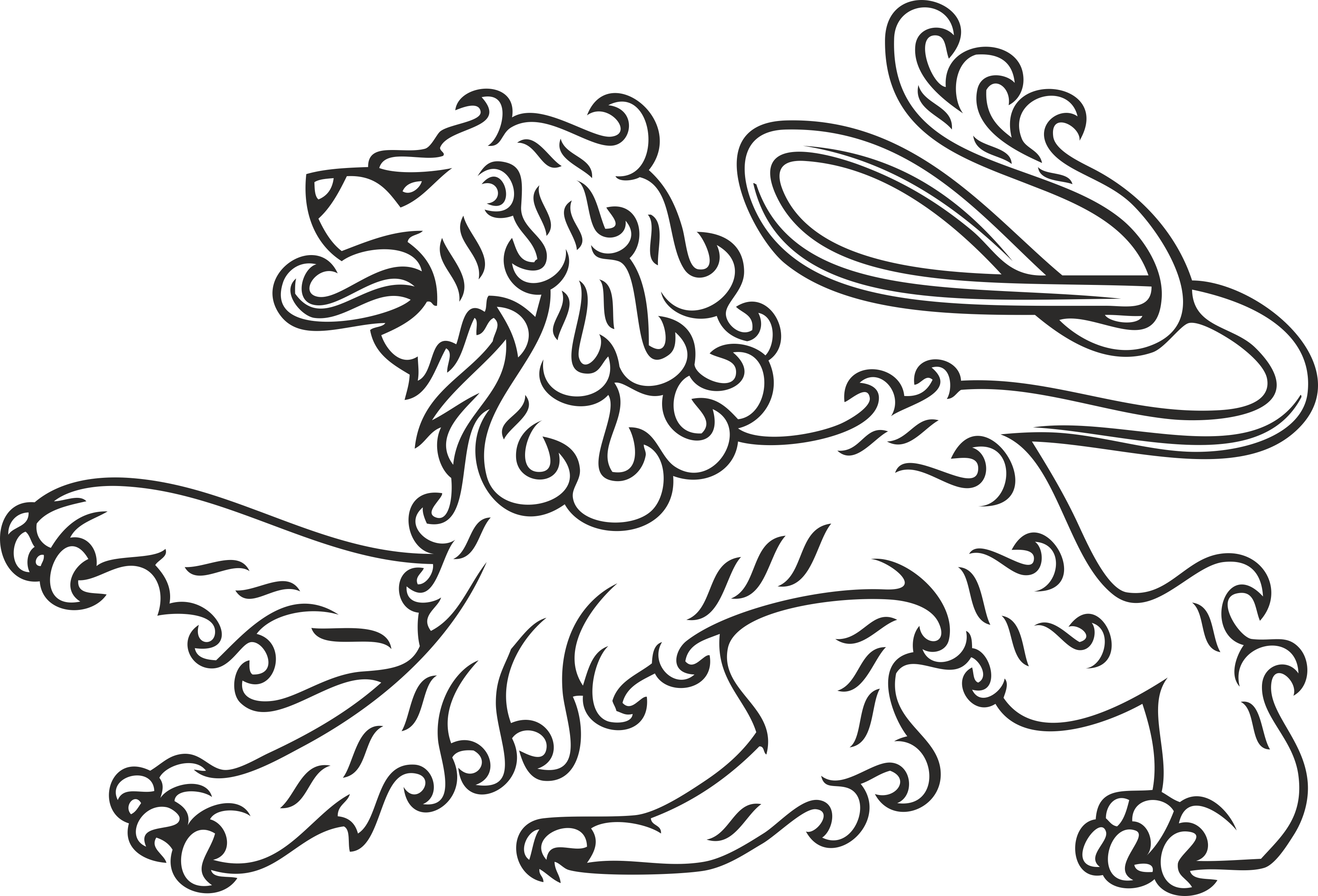Heraldry Animal Clipart 11 Free DXF File
