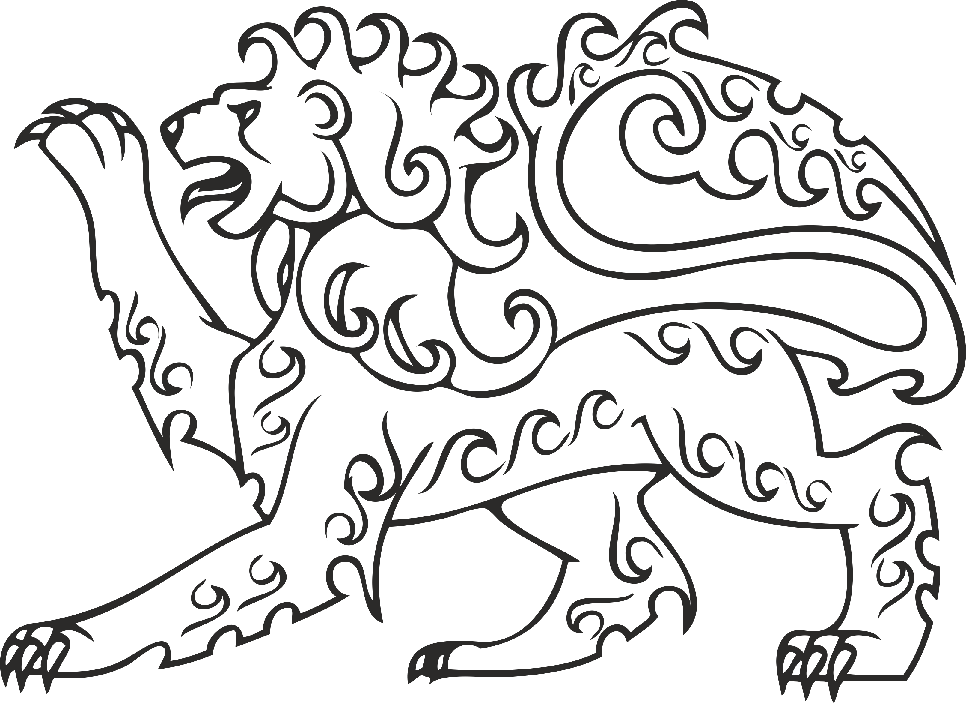Heraldry Animal Clipart 12 Free DXF File