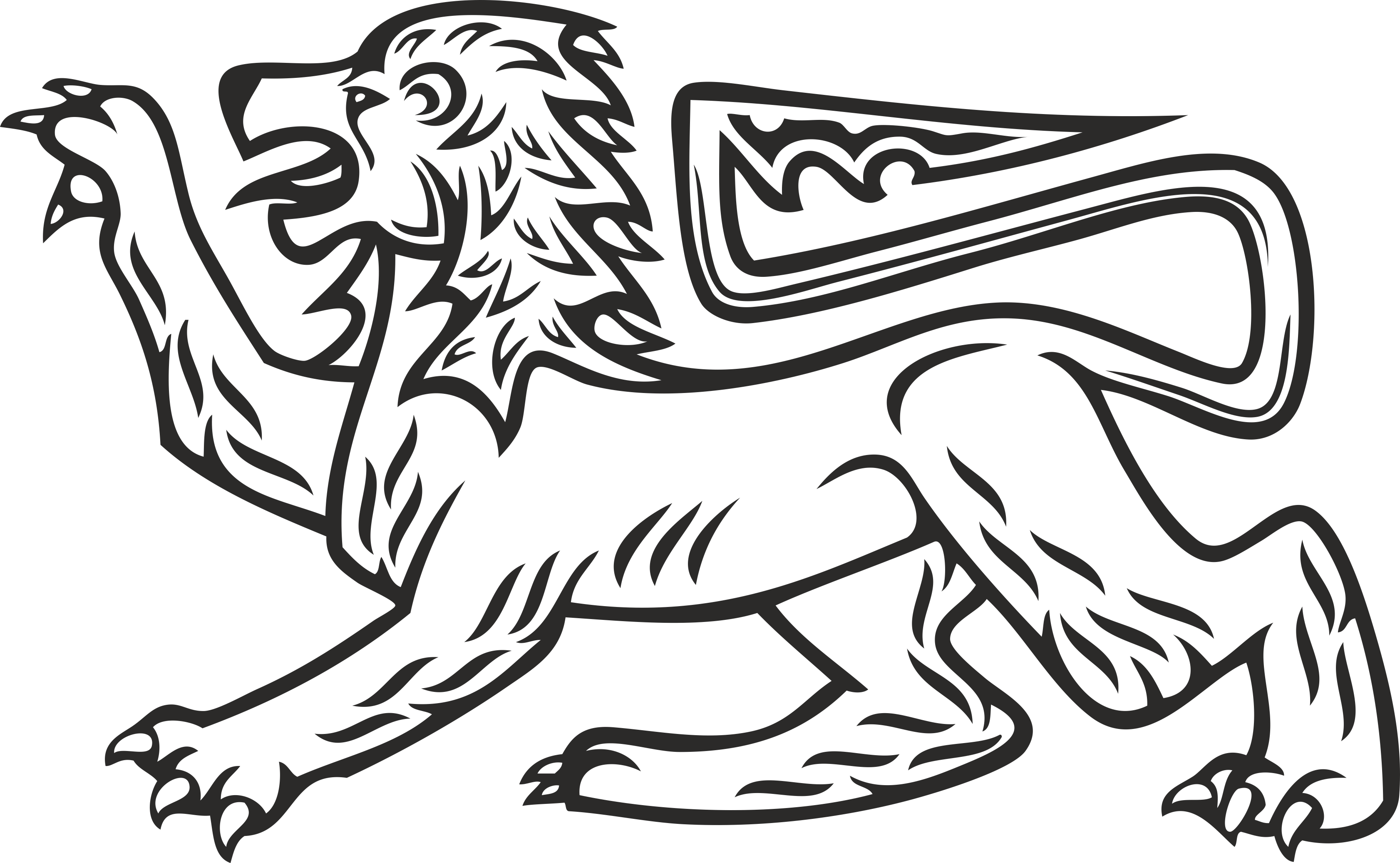 Heraldry Animal Clipart 13 Free DXF File
