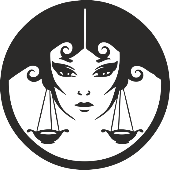 Zodiac Signs In The Form Of Female Face 03 Free DXF File