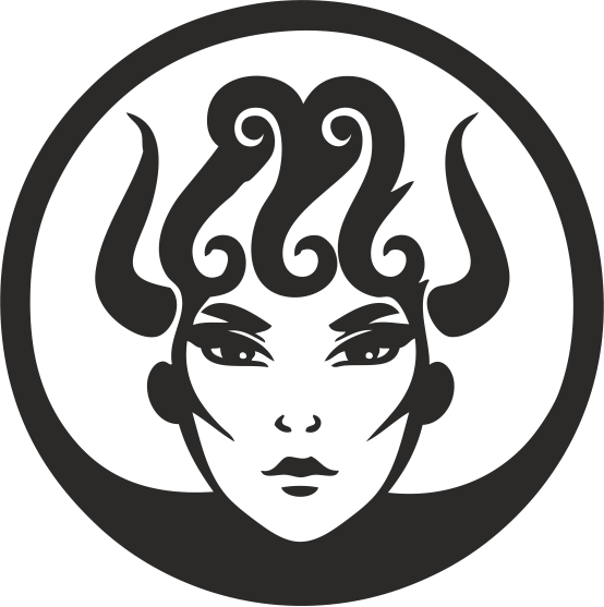 Zodiac Signs In The Form Of Female Face 07 Free DXF File
