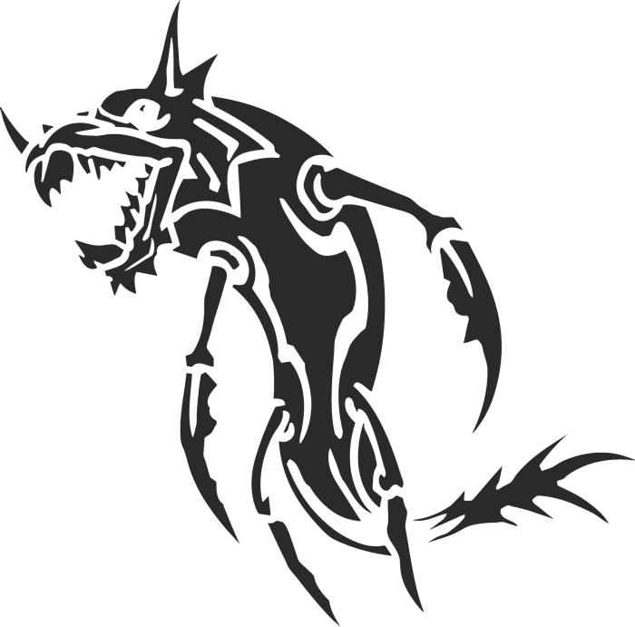 Sea Animal 06 Free DXF File