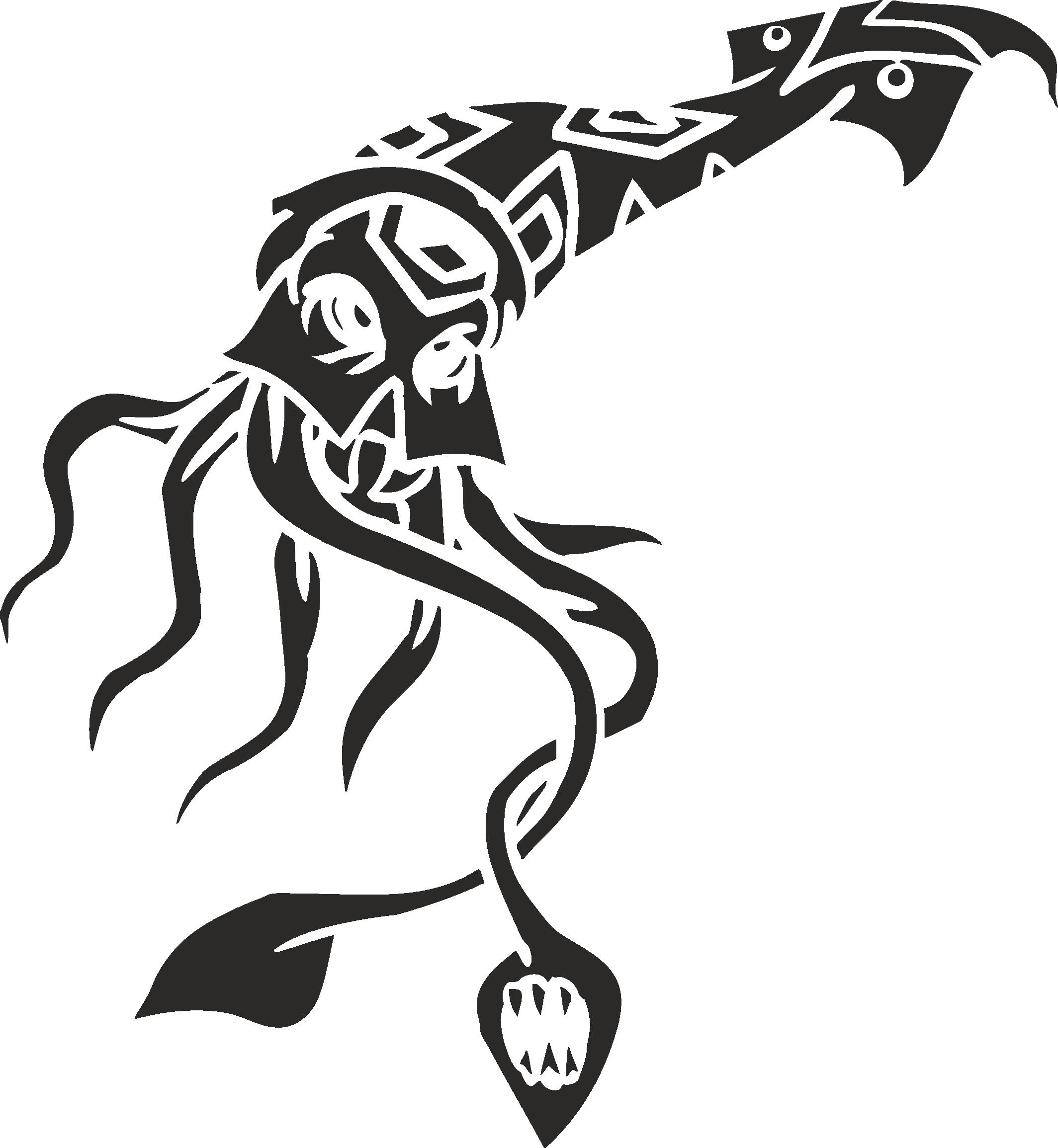 Sea Animal 07 Free DXF File