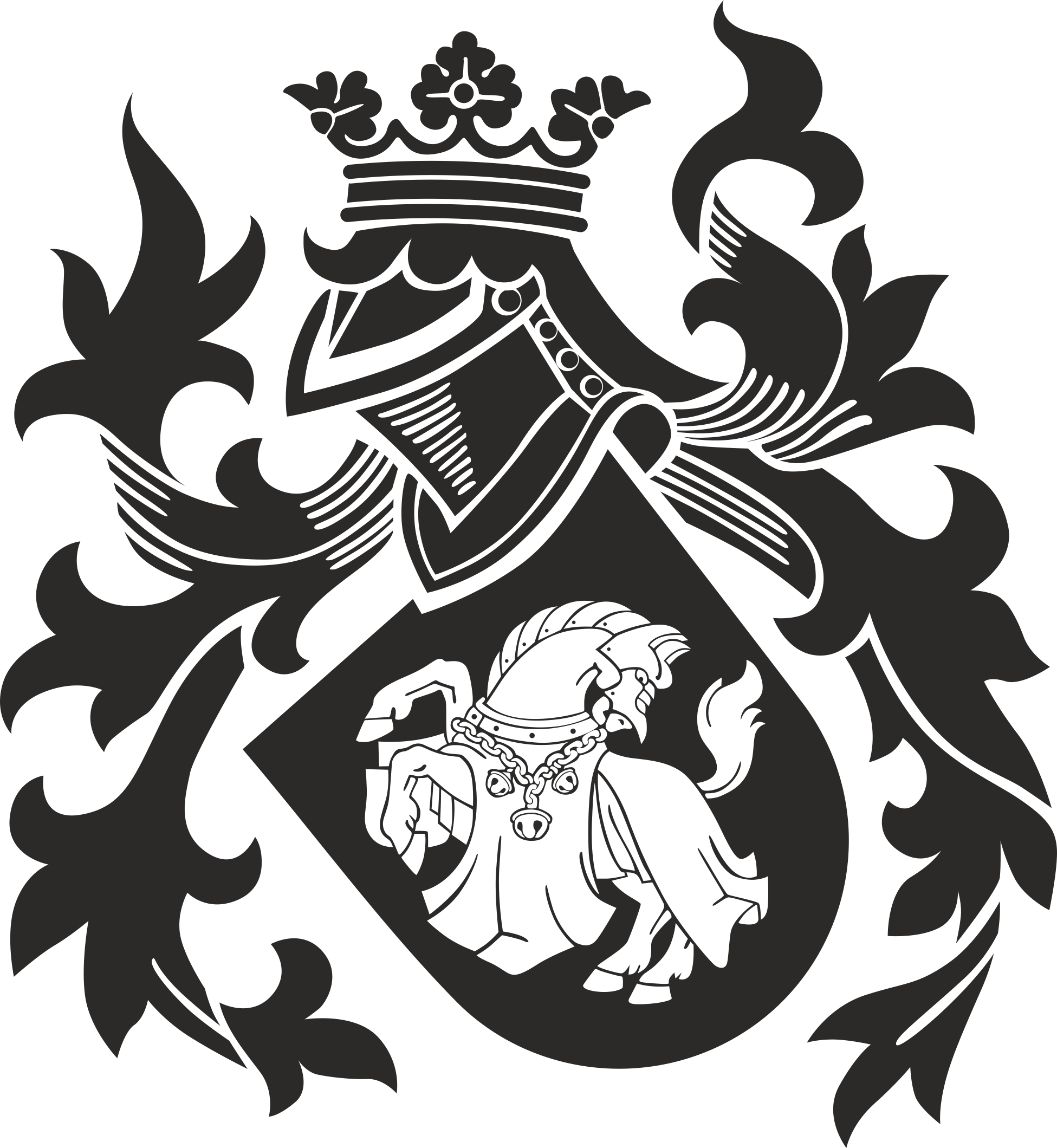 Heraldry Collection Clipart Vector 5-09 Free DXF File