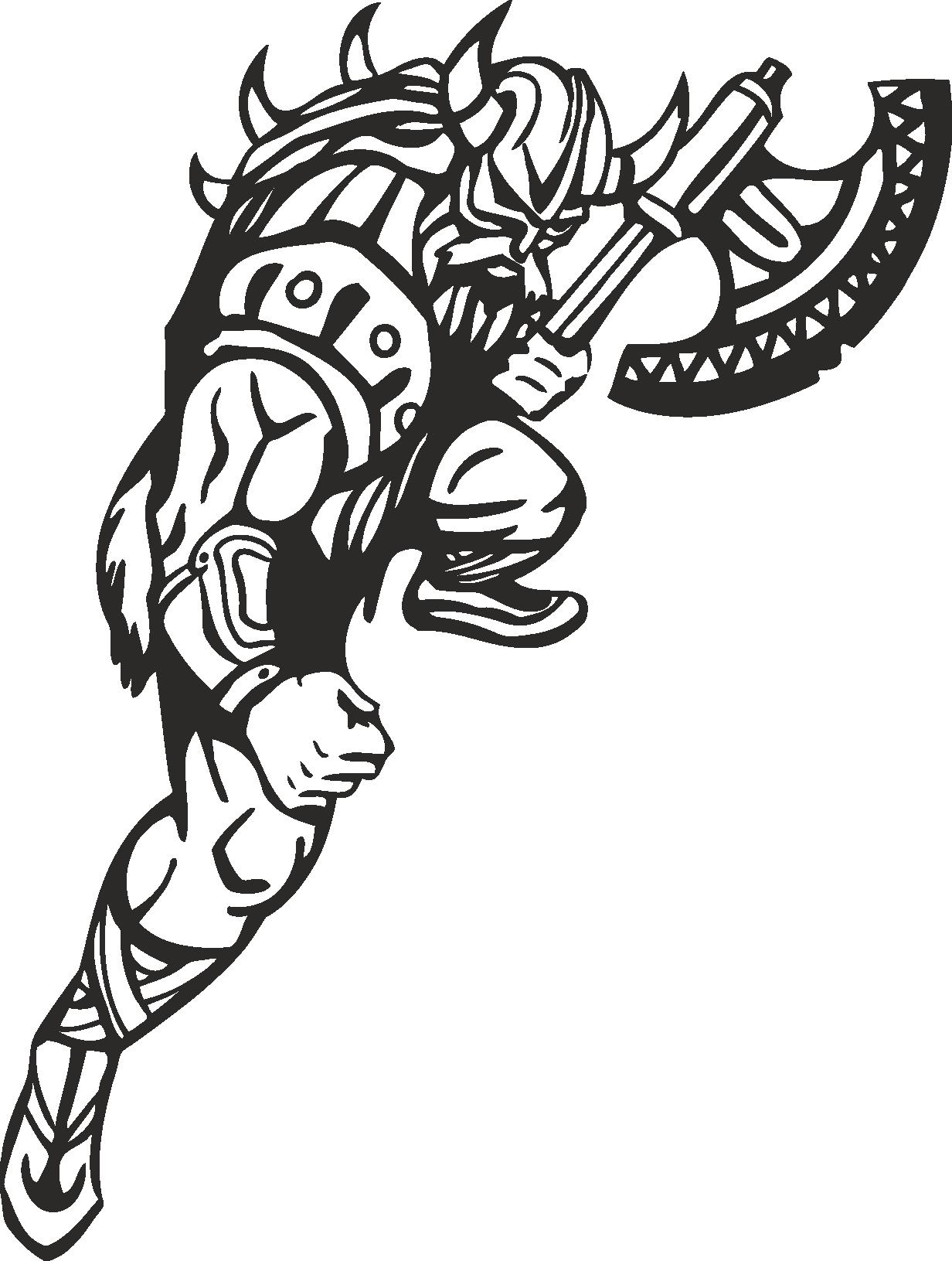 Warriors Vikings Vector 03 Free DXF File