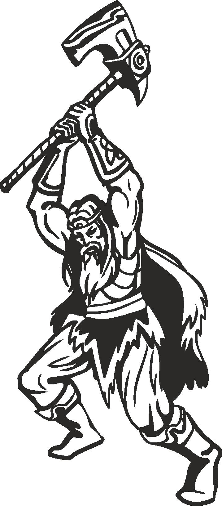 Warriors Vikings Vector 04 Free DXF File