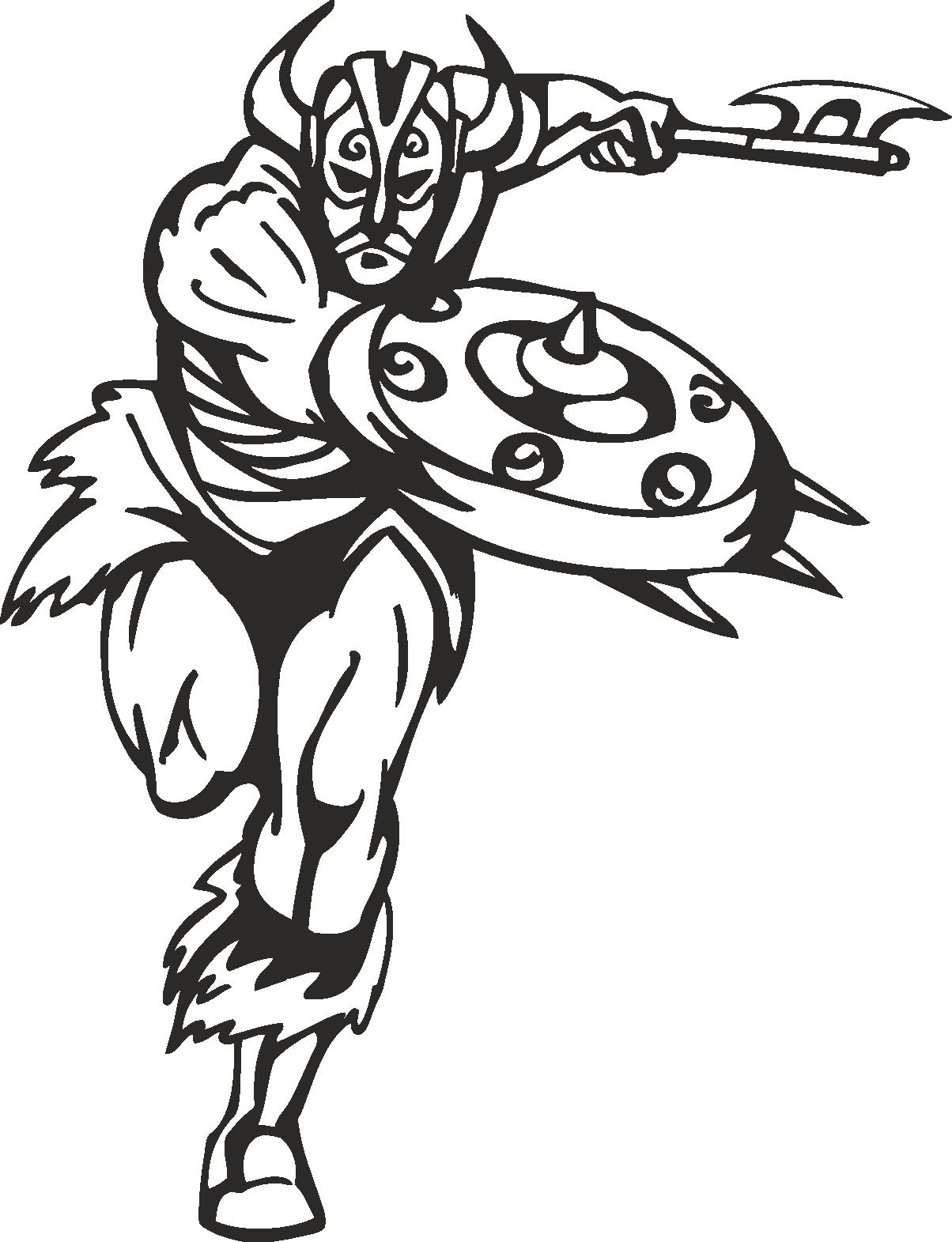 Warriors Vikings Vector 06 Free DXF File