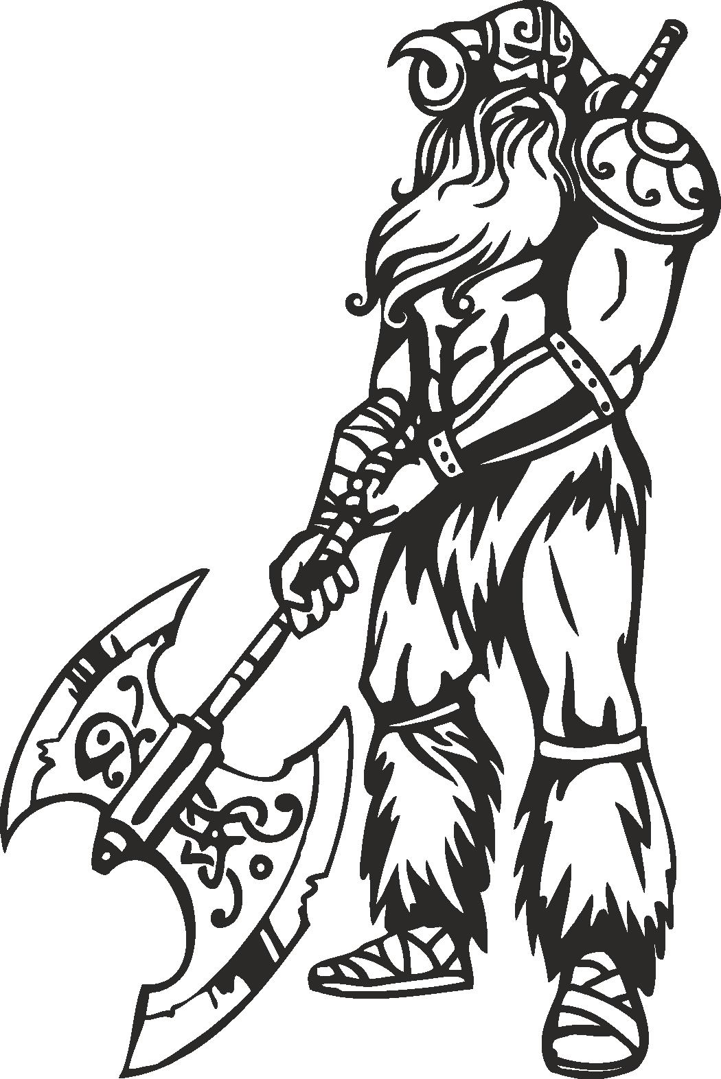 Warriors Vikings Vector 07 Free DXF File