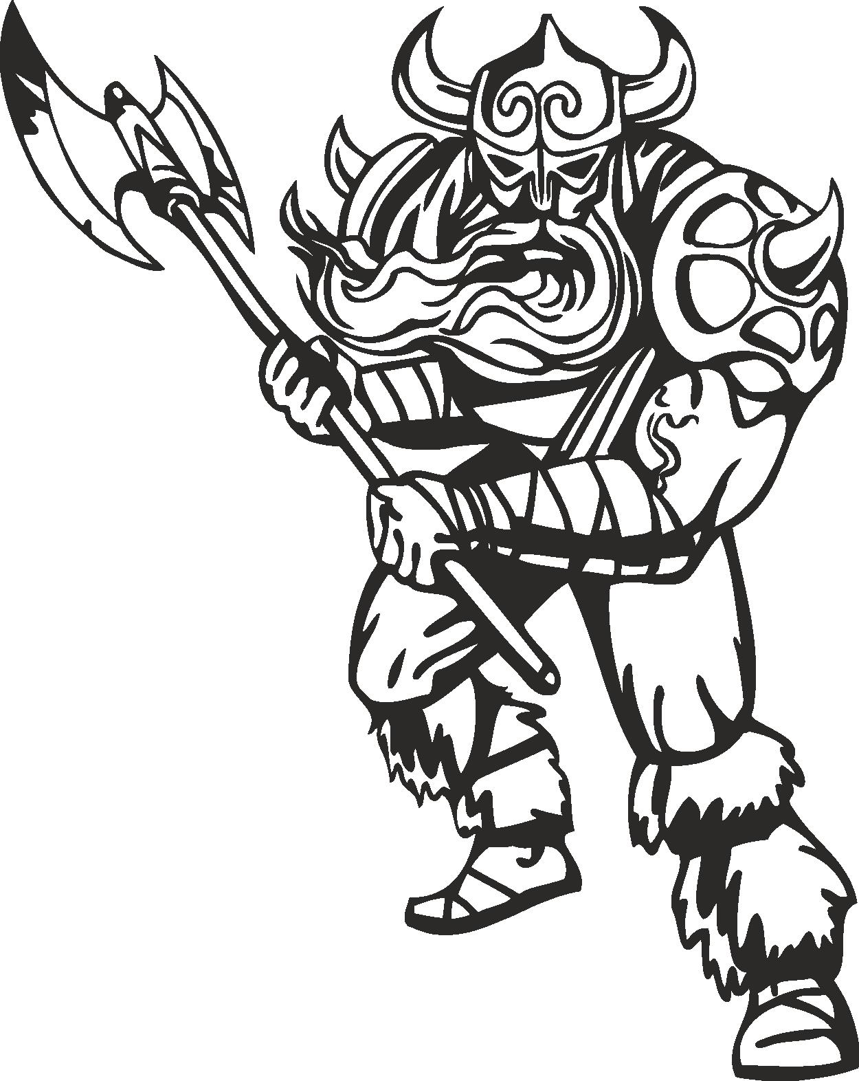 Warriors Vikings Vector 08 Free DXF File