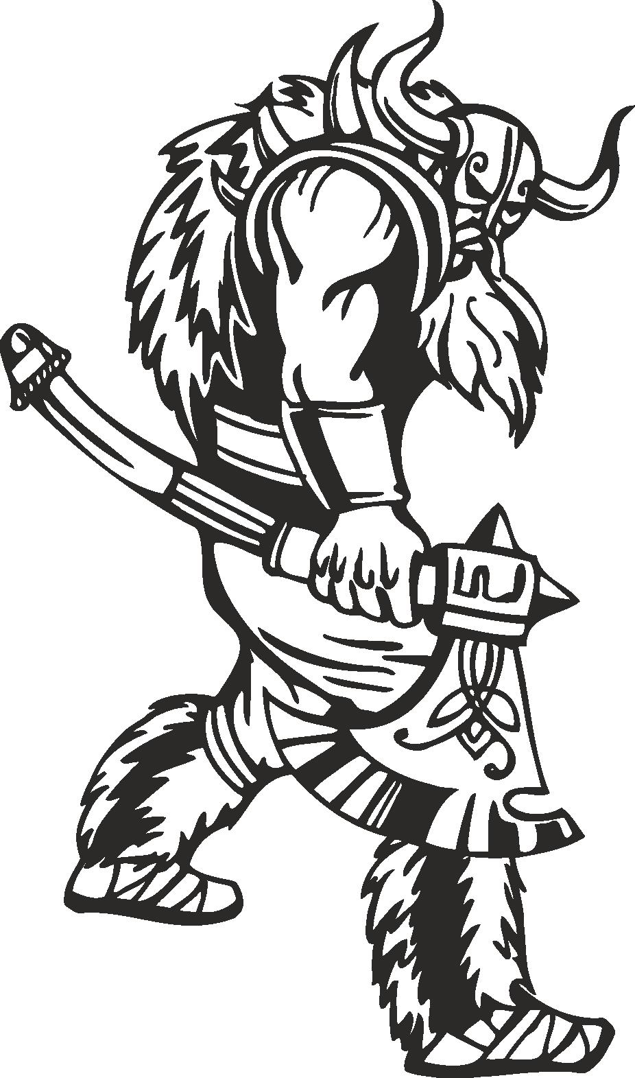 Warriors Vikings Vector 10 Free DXF File