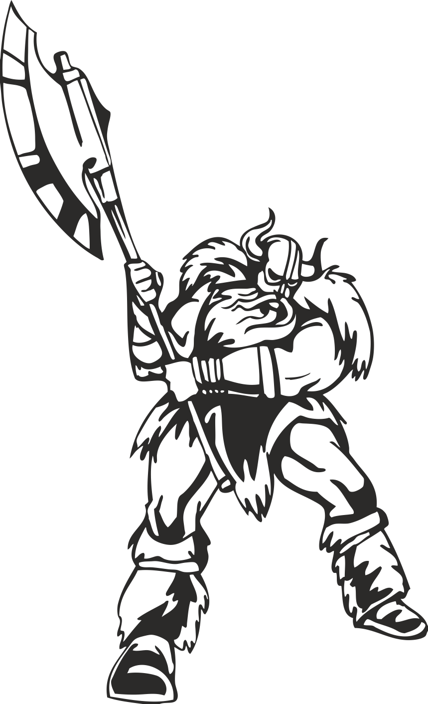 Warriors Vikings Vector 12 Free DXF File