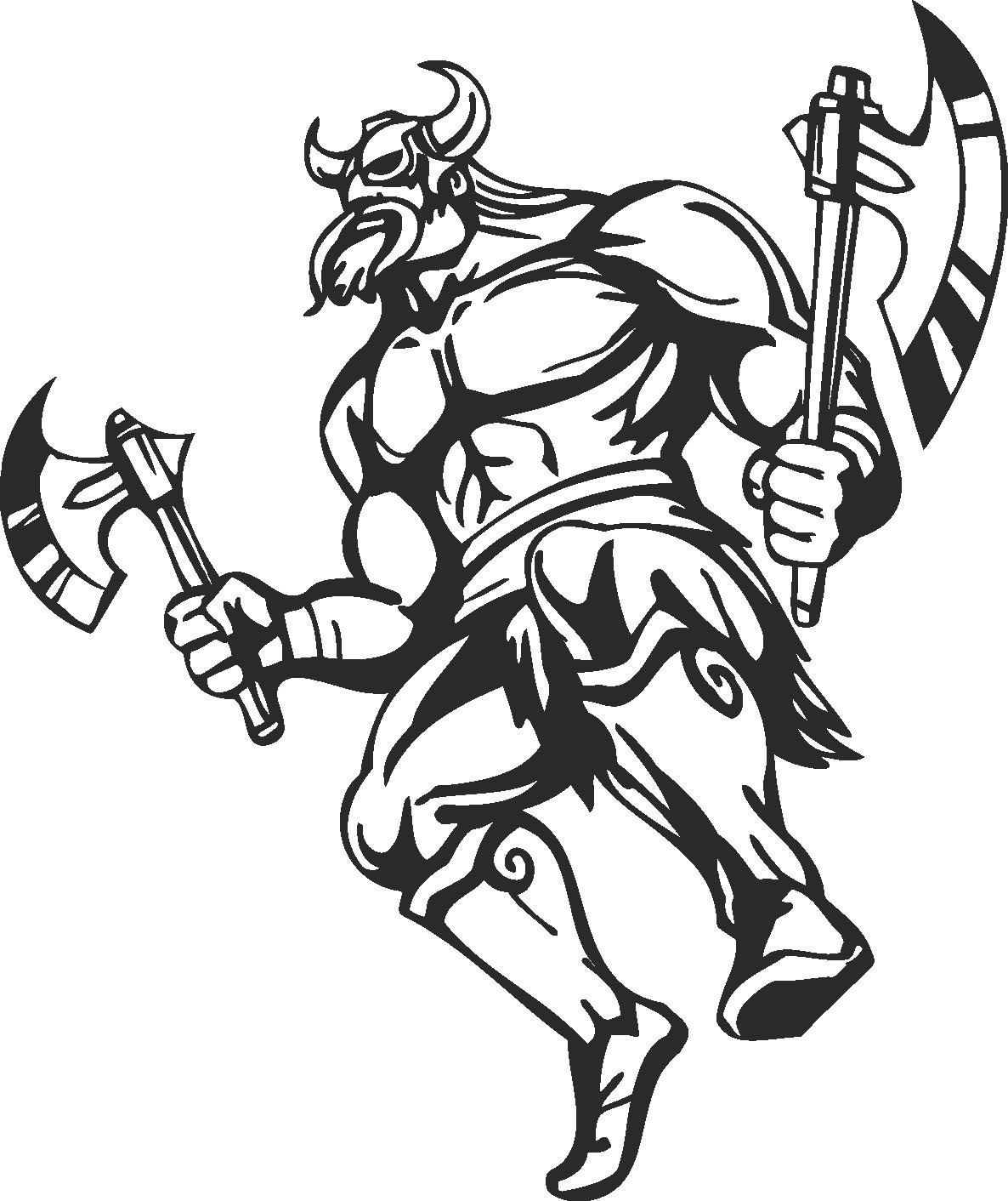 Warriors Vikings Vector 13 Free DXF File
