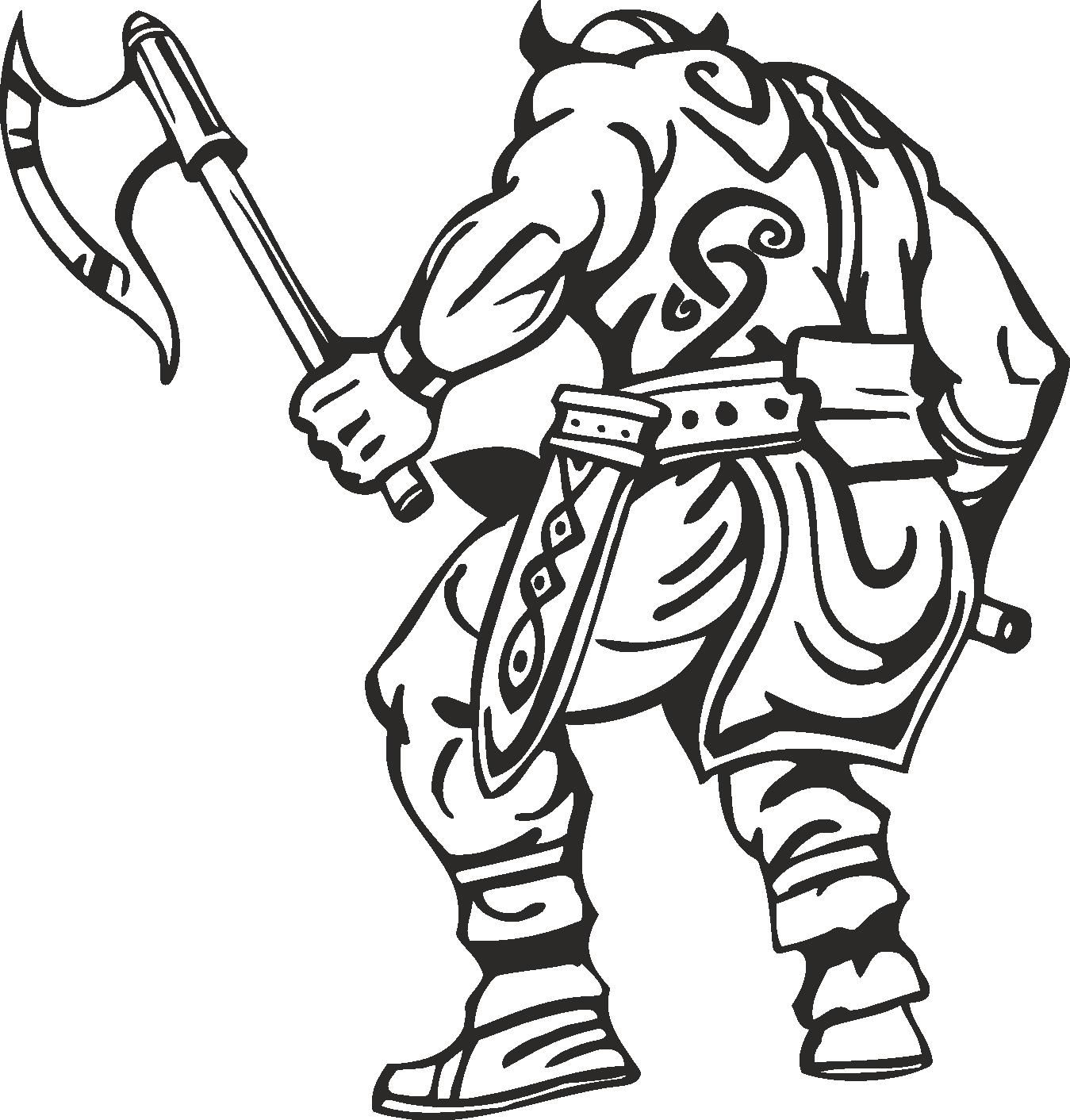 Warriors Vikings Vector 15 Free DXF File