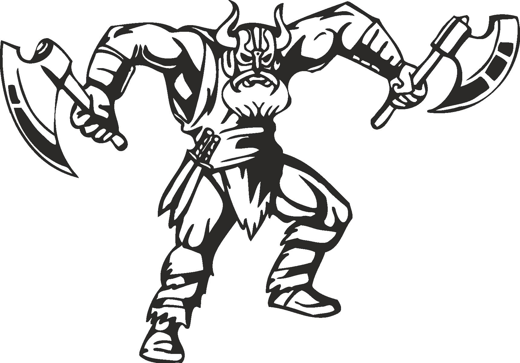 Warriors Vikings Vector 16 Free DXF File