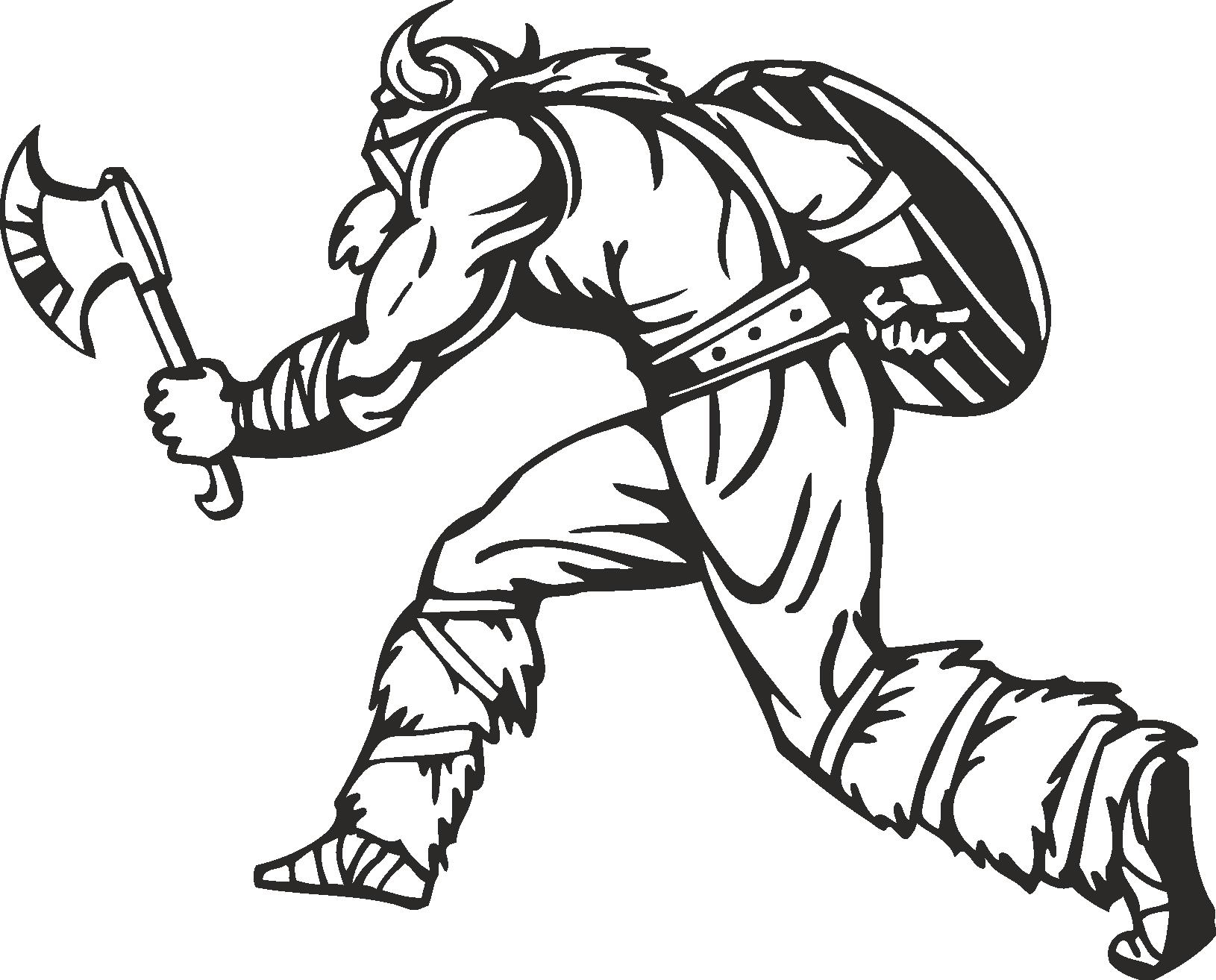 Warriors Vikings Vector 19 Free DXF File