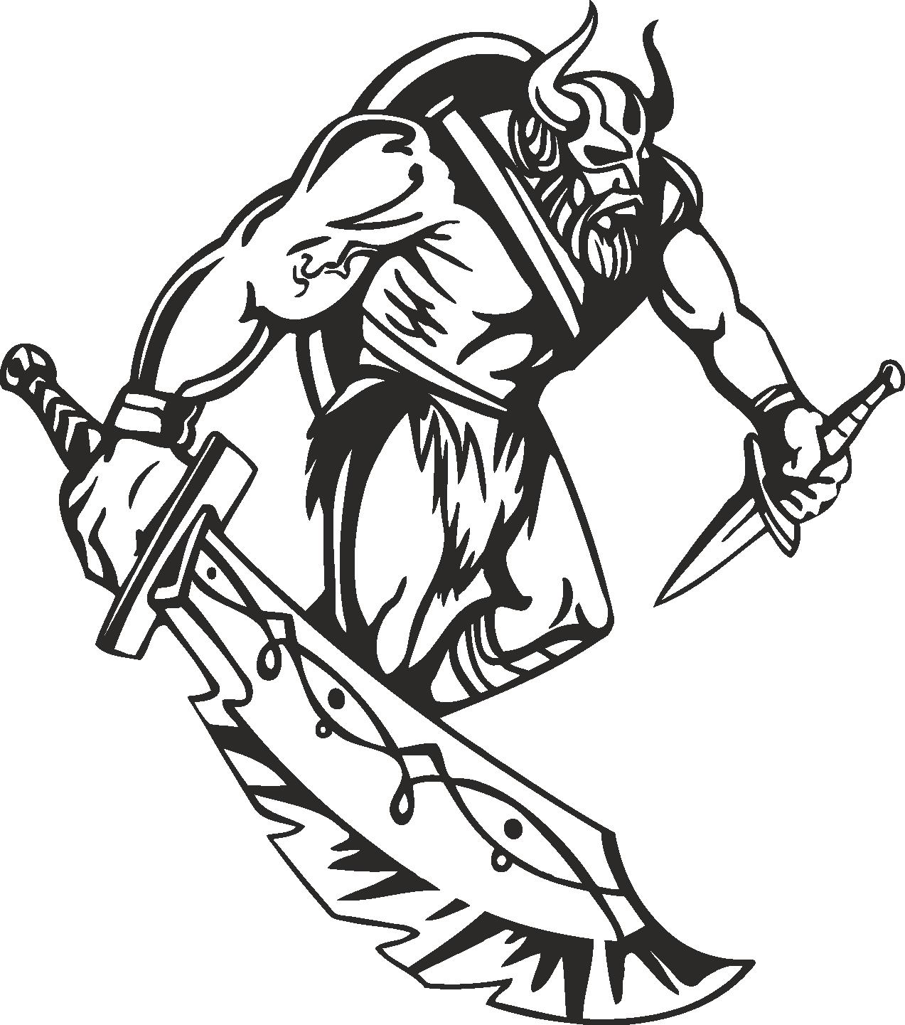 Warriors Vikings Vector 22 Free DXF File