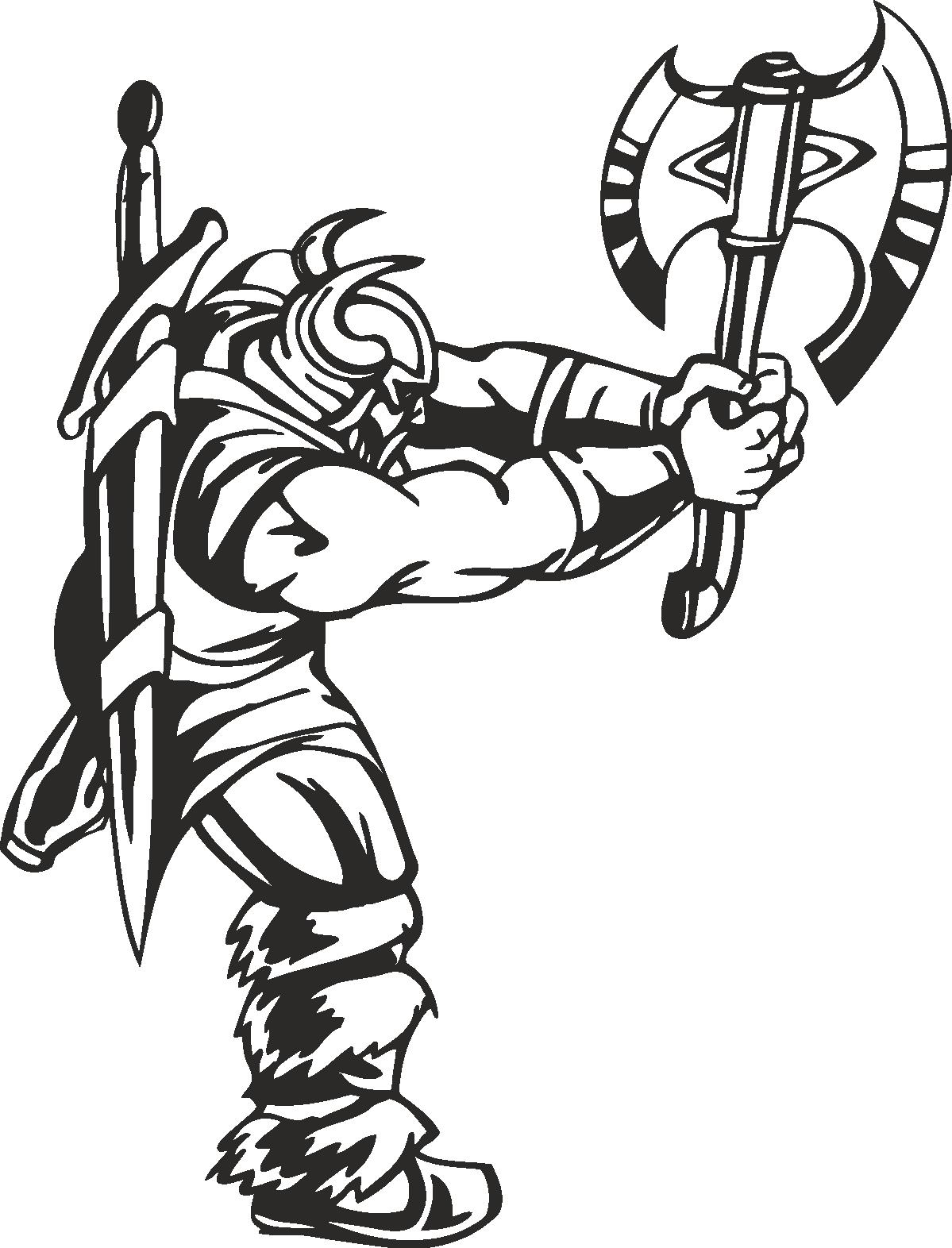 Warriors Vikings Vector 28 Free DXF File