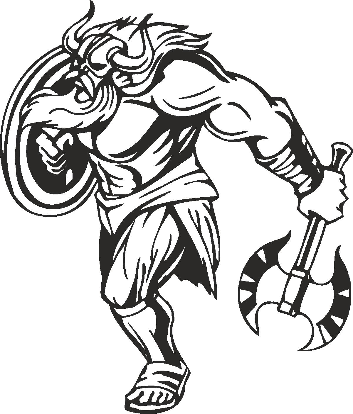Warriors Vikings Vector 29 Free DXF File
