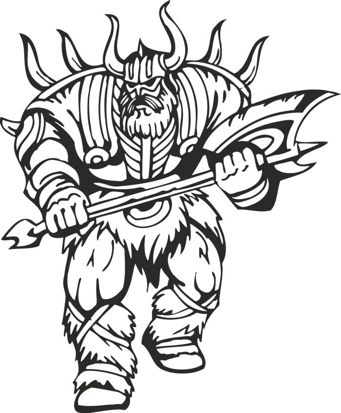 Warriors Vikings Vector 30 Free DXF File