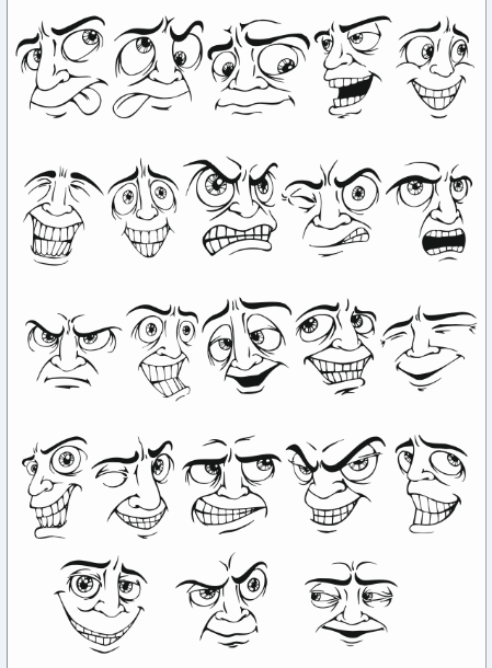Face Vector Mens Smileys Free DXF File