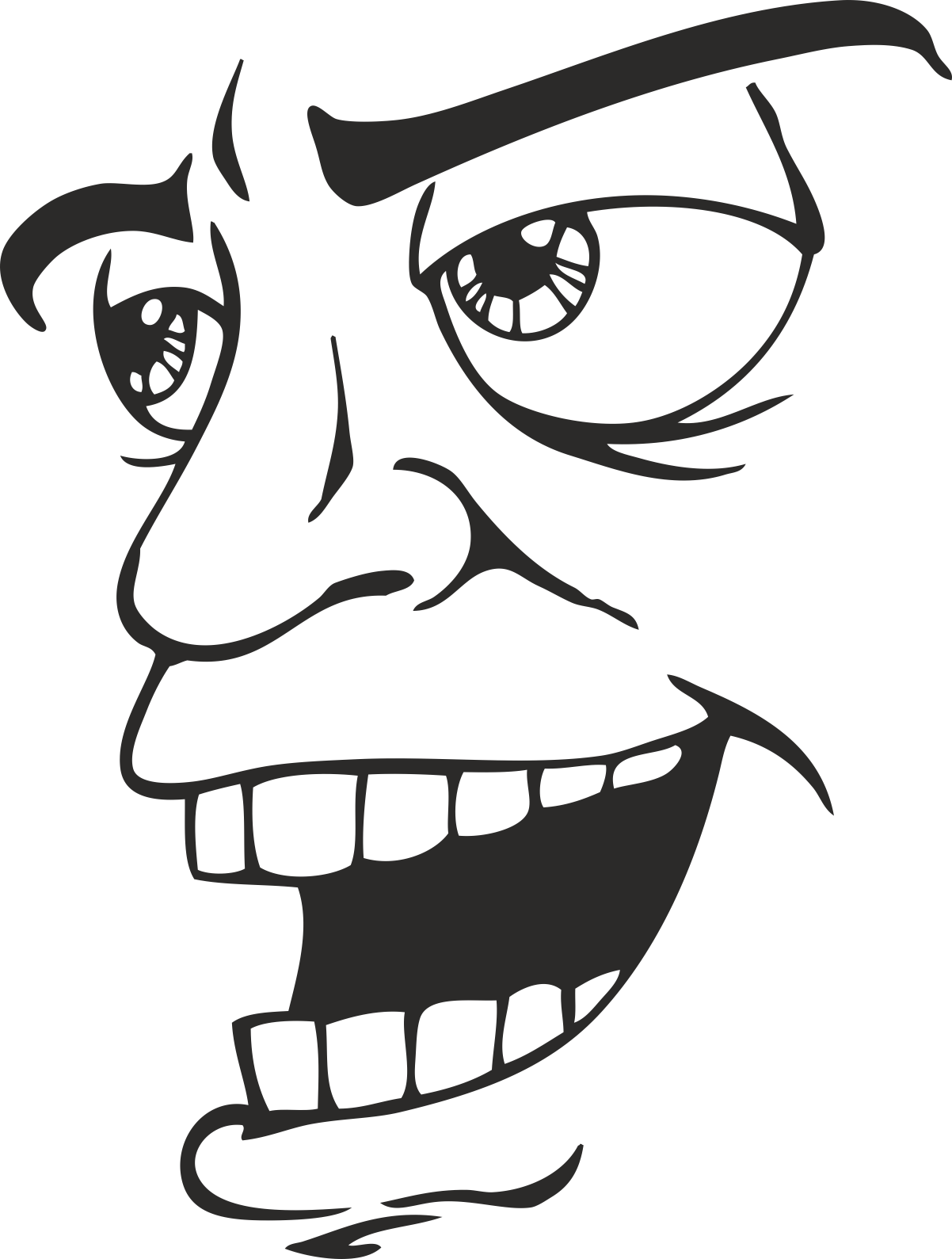 Face Vector Mens Smiley 04 Free DXF File