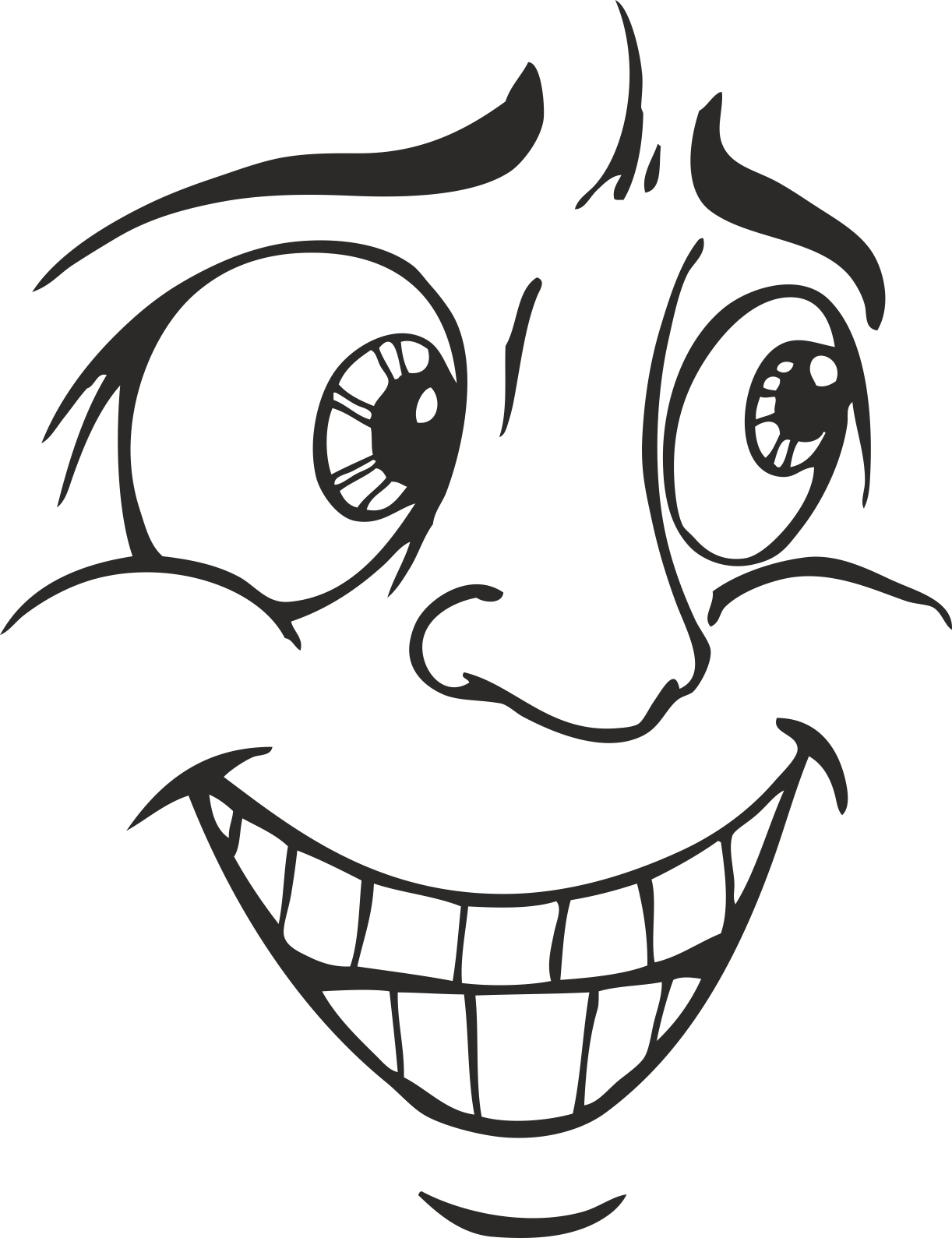 Face Vector Mens Smiley 05 Free DXF File
