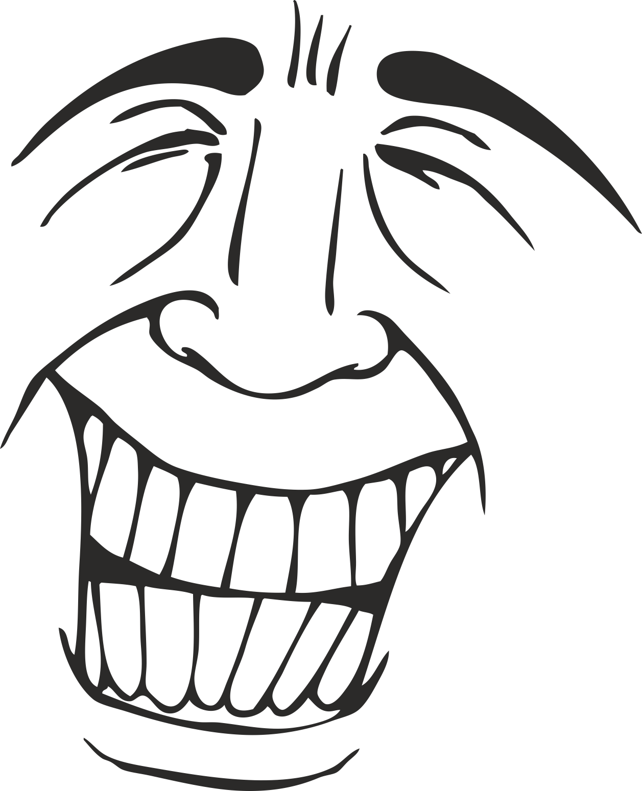 Face Vector Mens Smiley 06 Free DXF File
