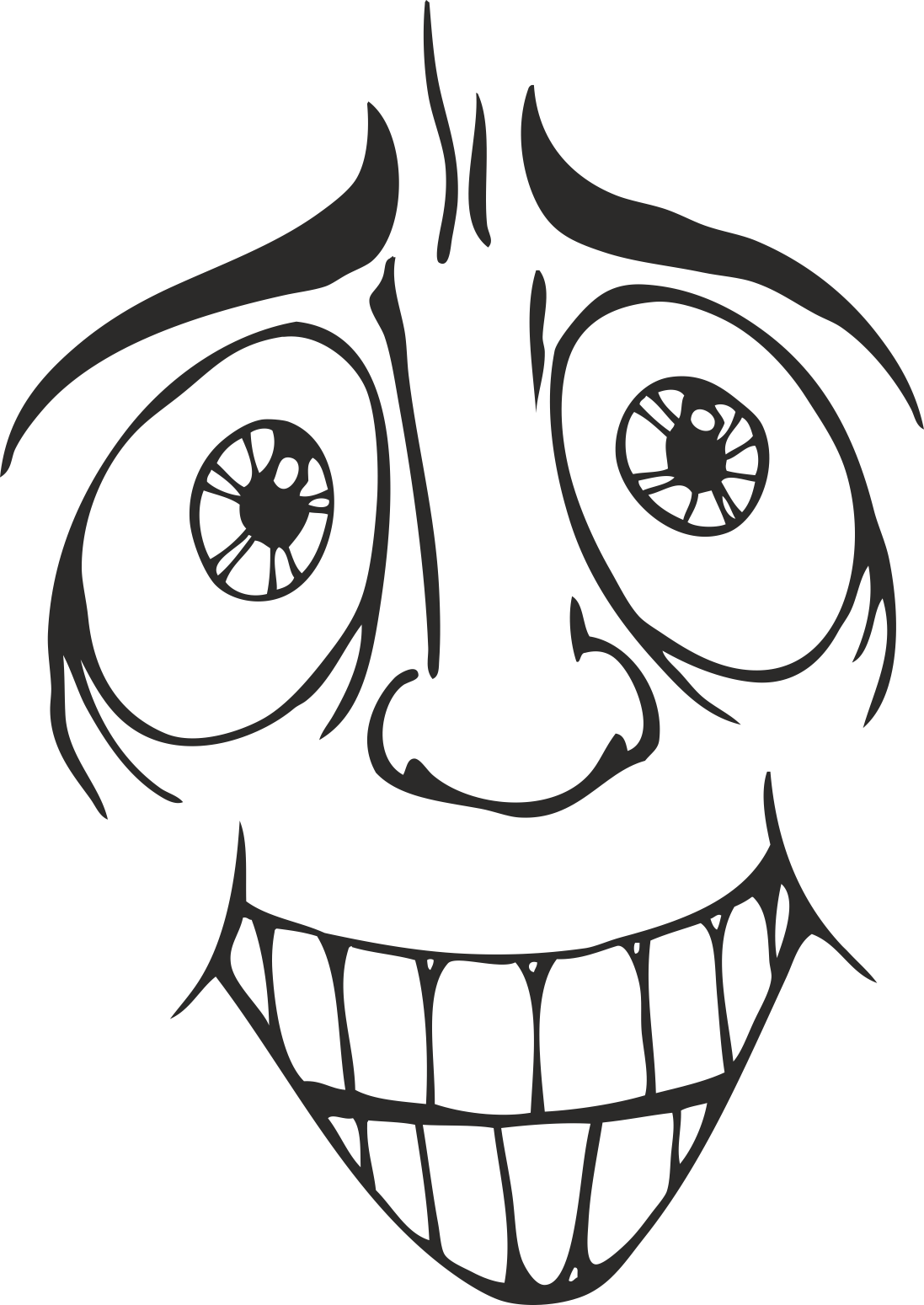 Face Vector Mens Smiley 07 Free DXF File