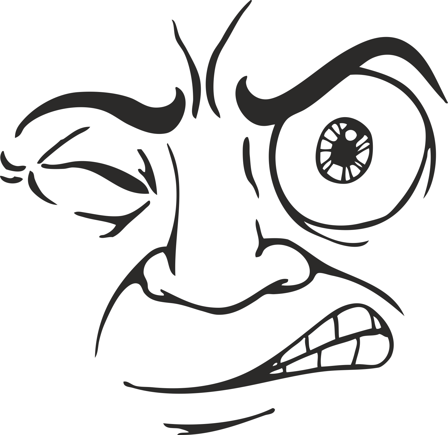 Face Vector Mens Smiley 09 Free DXF File