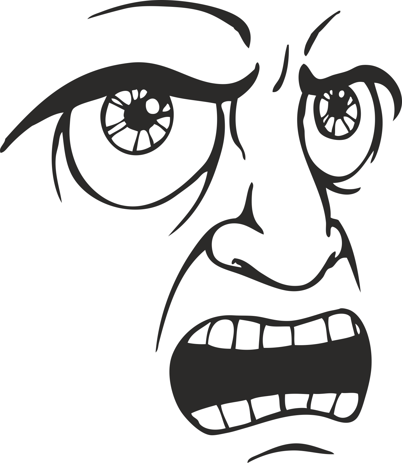 Face Vector Mens Smiley 10 Free DXF File