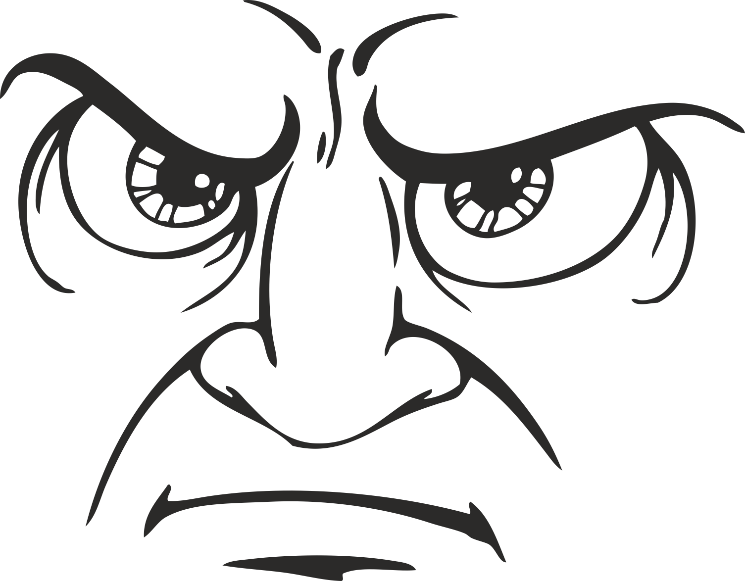 Face Vector Mens Smiley 11 Free DXF File