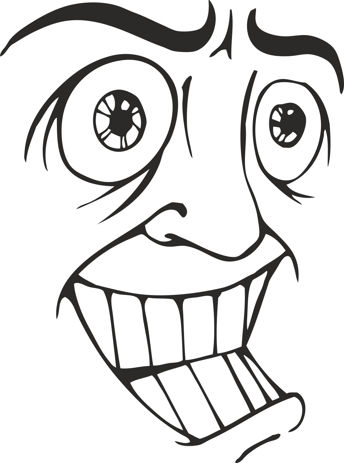 Face Vector Mens Smiley 12 Free DXF File