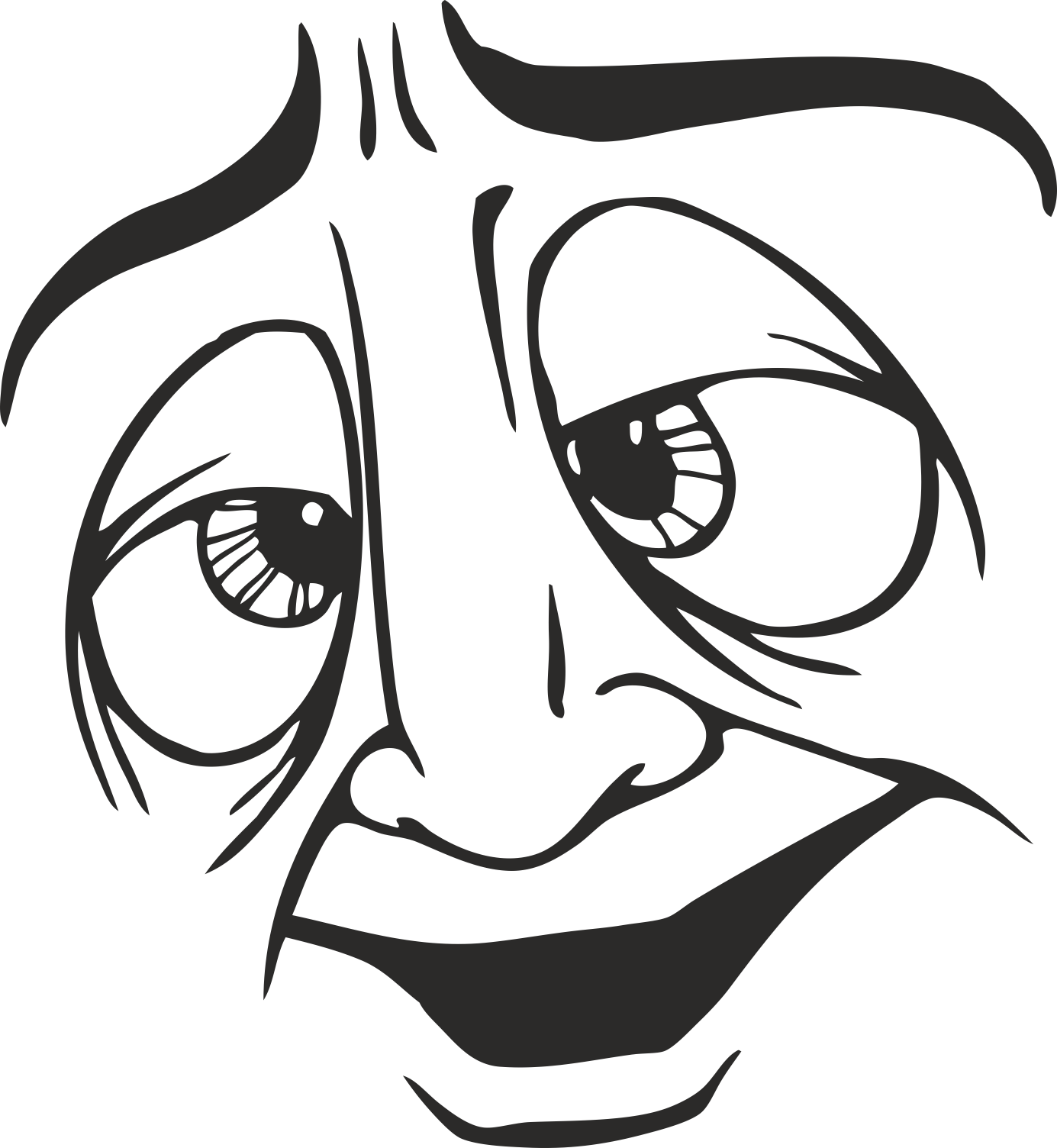 Face Vector Mens Smiley 13 Free DXF File