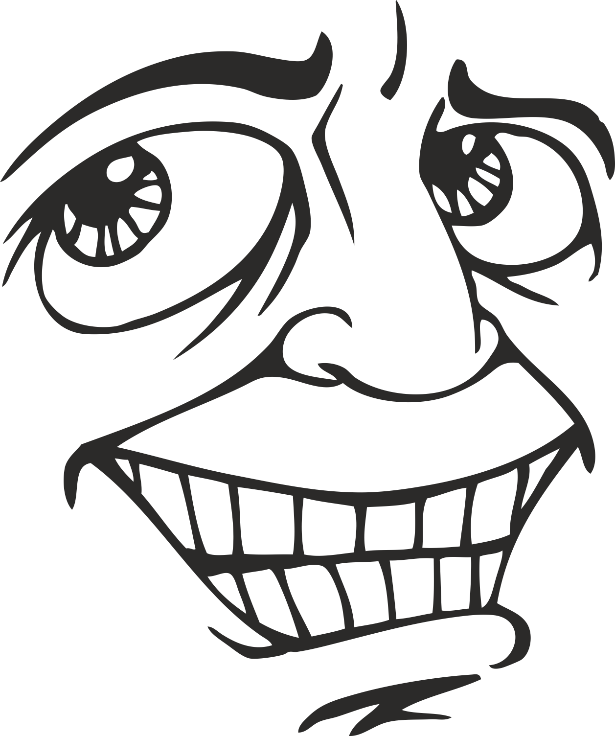 Face Vector Mens Smiley 14 Free DXF File